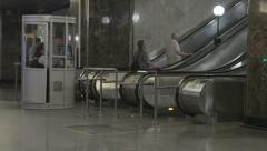 Futuristic design at the metro station Stock Footage