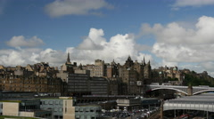 Time lapse of the skyline Edinburgh Scotland Stock Footage