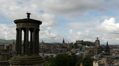 Time lapse of the view over Edinburgh Stock Footage