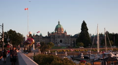 4K Victoria BC Legislature - stock footage