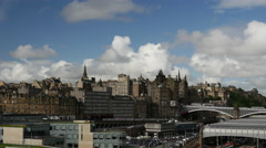 Skyline Edinburgh Scotland Stock Footage