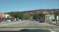 Downtown Moab Utah drive POV 4K Stock Footage