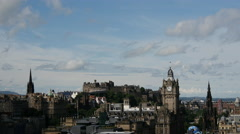 Time lapse of the view over Edinburgh Scotland Stock Footage