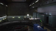 Power plant generator room Stock Footage