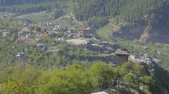 Kamru and Sangla village as seen from Kamru,Kamru,Kinnaur,India Stock Footage