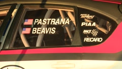 Travis Pastrana Rally Car Name Tags Stock Footage