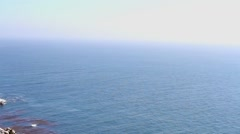 The Pacific Ocean at the Big Sur area, California, USA Stock Footage