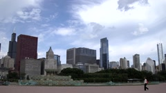 Skyline of Downtown Chicago, Illinois - stock footage