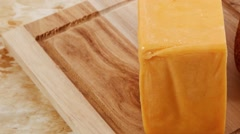 Aged italian cheddar cheese Stock Footage