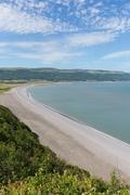 Porlock beach Somerset England UK near Exmoor and west of Minehead - stock photo