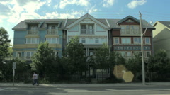 Beautiful Beach Front Houses in Wide shot Stock Footage