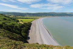 Porlock beach Somerset England UK near Exmoor and west of Minehead Stock Photos