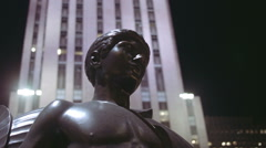 Sculpture In New York City By The Rockfeller Centre Stock Footage