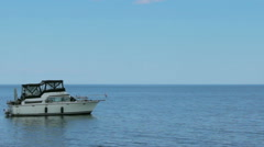 Boat on the water 2 Stock Footage