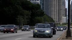 Traffic in Downtown Chicago, Illinois - stock footage