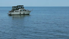 Boat on the water Stock Footage