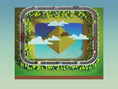 green earth concept in isometric view - stock illustration