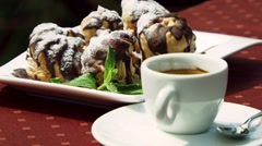 Coffee With Cake Stock Footage