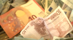 International currencies, banknotes and coins Stock Footage