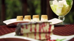 Cakes Near To A Pie And Dessert Stock Footage
