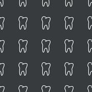 Stock Illustration of Straight black tooth pattern