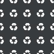 Straight black recycle sign pattern - stock illustration