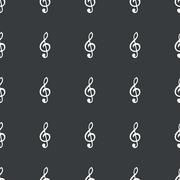 Straight black music pattern Stock Illustration