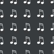 Straight black 16th note pattern Stock Illustration