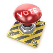 Vote button - stock illustration