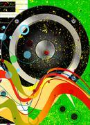 Jazz Musical Background - stock illustration