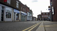 Empty streets of small english town- England Stock Footage