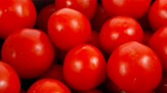 Fresh raw tomatoes in retro design box Stock Footage