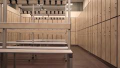 empty locker room - stock footage