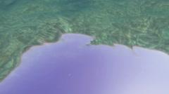 Underwater Texture Loop Background Looking Up Stock Footage