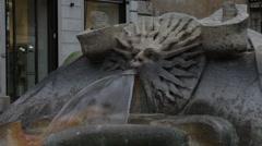 Sun sculpture on the Fontana della Barcaccia Stock Footage
