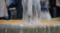 Close-up shot of the center fountain of the Fontana della Barcaccia Stock Footage