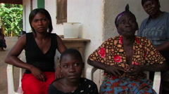 Family being interviewed in Ghana. Stock Footage