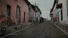Alley of old town Stock Footage