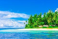 Stock Photo of Tropical island landscape, Banyak Archipelago, Indonesia, Southeast Asia