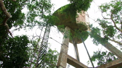 Old water tower. Stock Footage