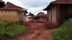 A town street in Africa. Stock Footage
