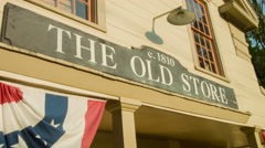 The Old Store in Sherman, CT classic general store exterior New England Stock Footage