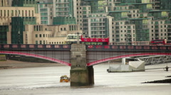 Lambeth Bridge in London Stock Footage