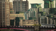 Lambeth Bridge in London, England Stock Footage