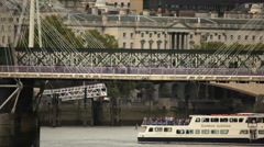 Hungerford Bridge in London Stock Footage