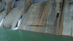 Aerial view of hydroelectric power plant - stock footage