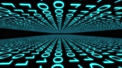 Binary code computer data cyberspace graphic animation Stock Footage
