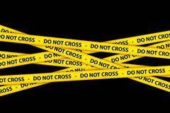 Stock Illustration of Do Not Cross Tape