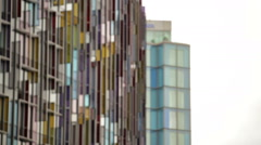 Shot of the beautiful colored glass of the Park Plaza Westminster Bridge Hotel, Stock Footage