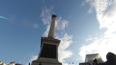 Lord Nelson's monument piercing the sky - stock footage